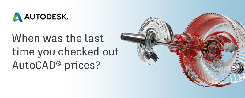 autocad price change