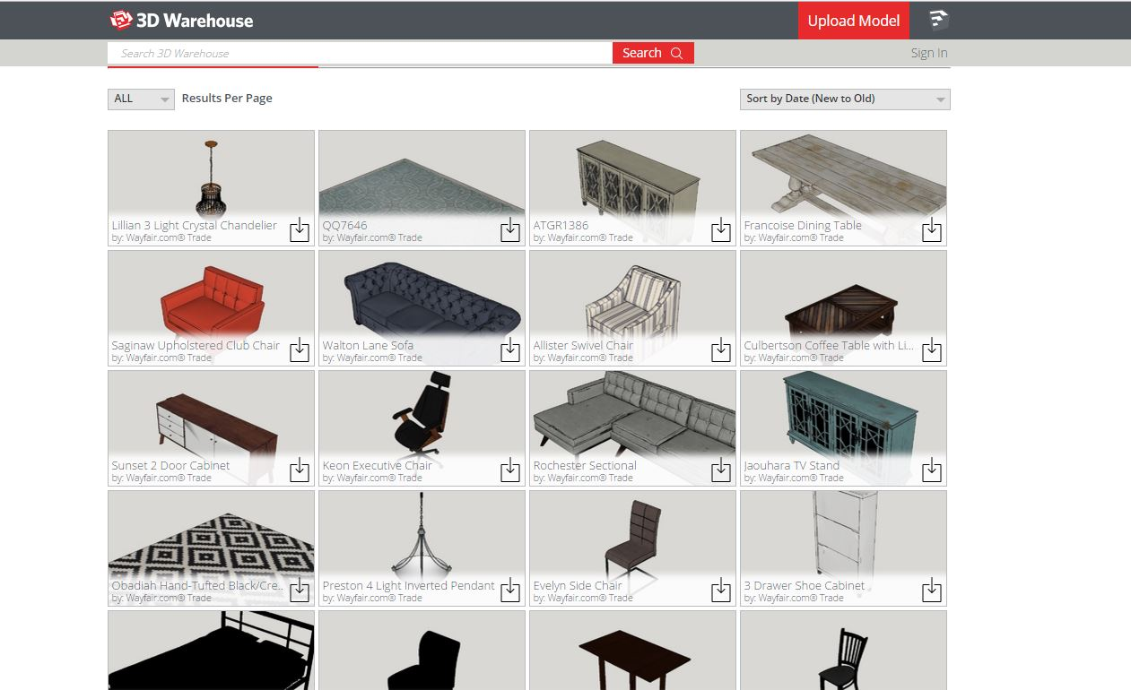 Wayfair Product Library Available On Sketchup Benchmarq