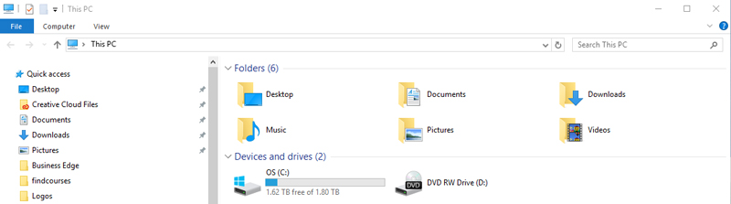 disk space left