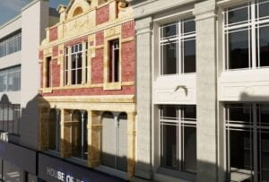 3D Revit Model of the exterior ofHouse of Fraser, Cardiff